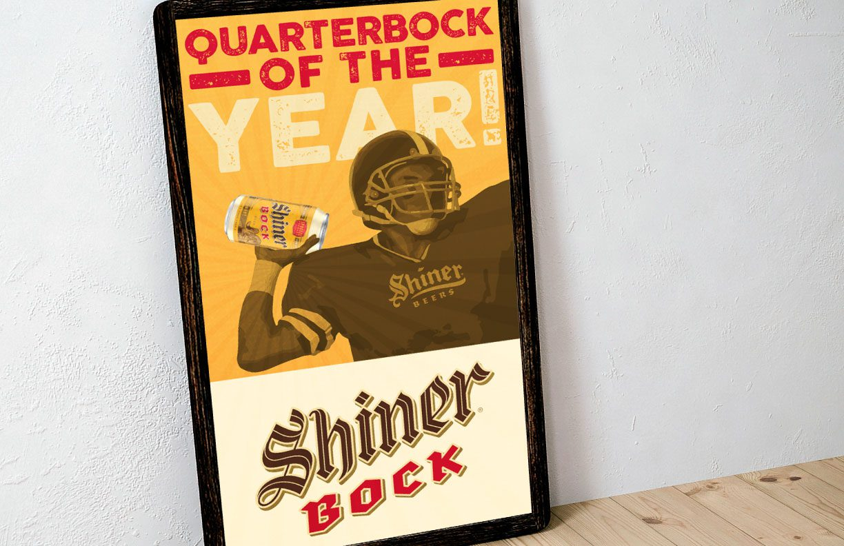 Shiner Beer Bar poster