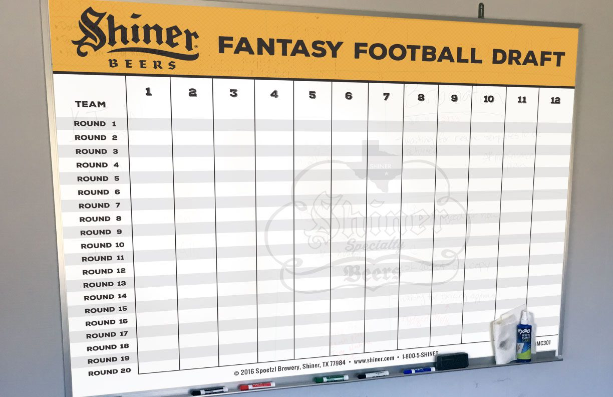 Shiner Fantasy football draft