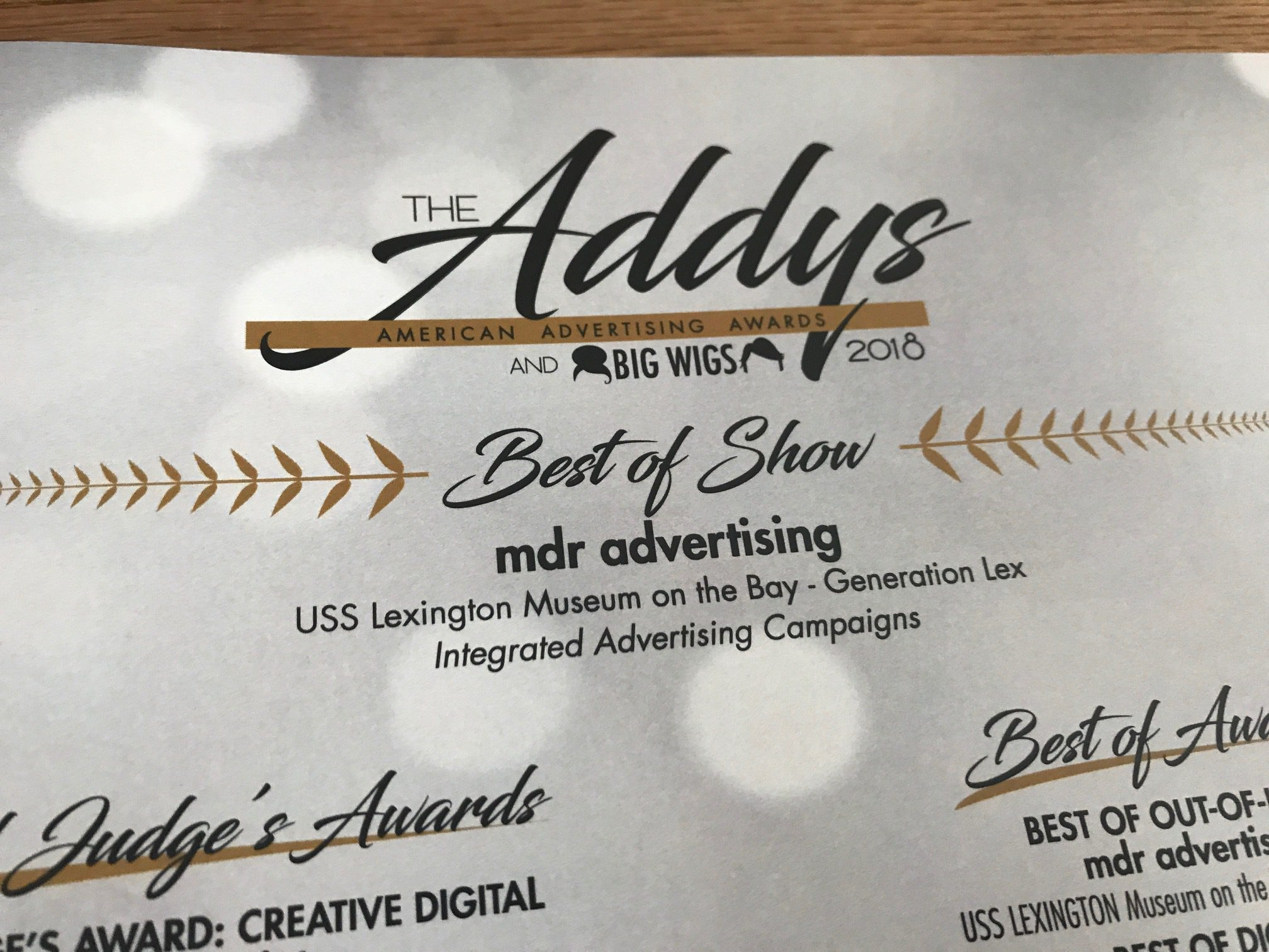 MDR Wins Big at the 2018 American Advertising Awards