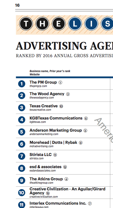 MDR Makes Top Agencies List