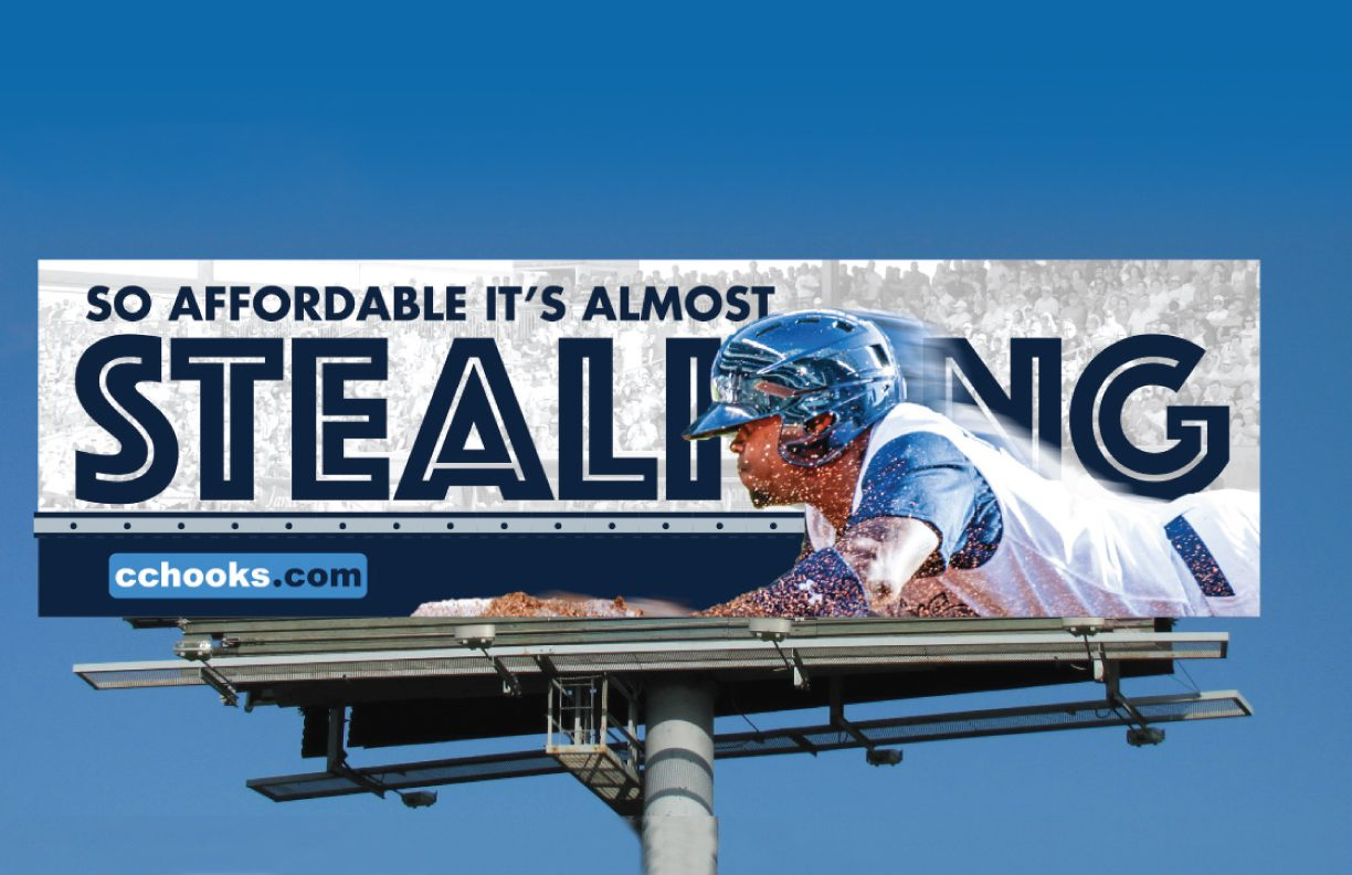 Hooks Baseball Billboard