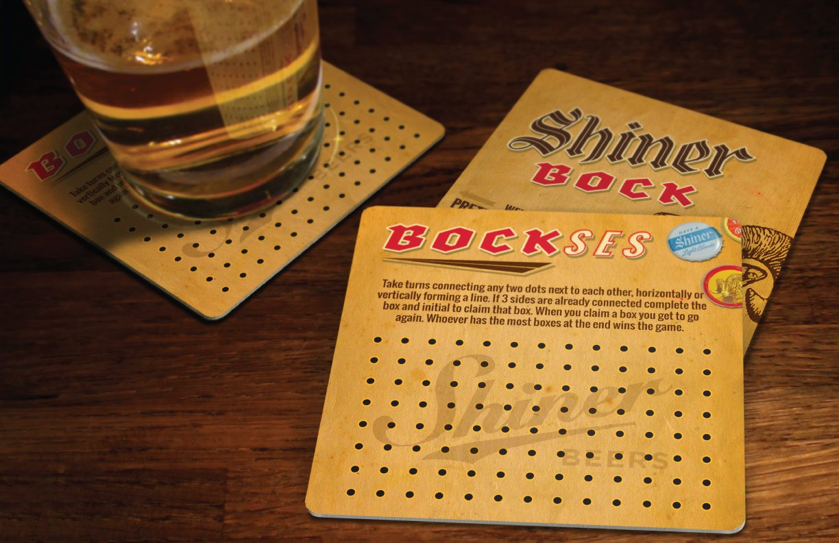 Shiner Bock coaster games